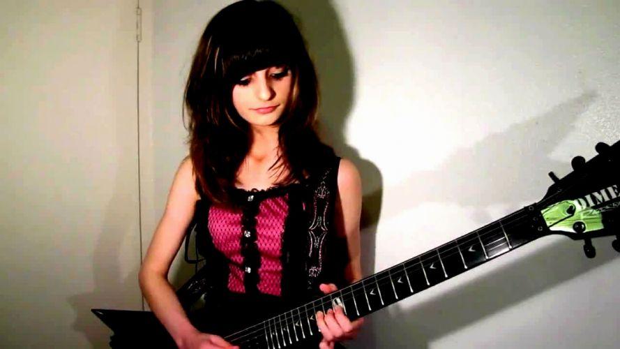 JJkitten jacqueline metal heavy hard rock sexy babe guitar wallpaper