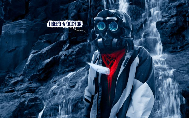 90 Romantically Apocalyptic fantasy sci-fi dark blood mask gas blood wallpaper