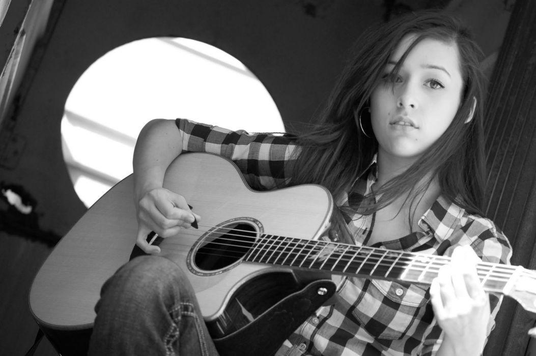 Adrianna Marie country folk guitar babe mood wallpaper