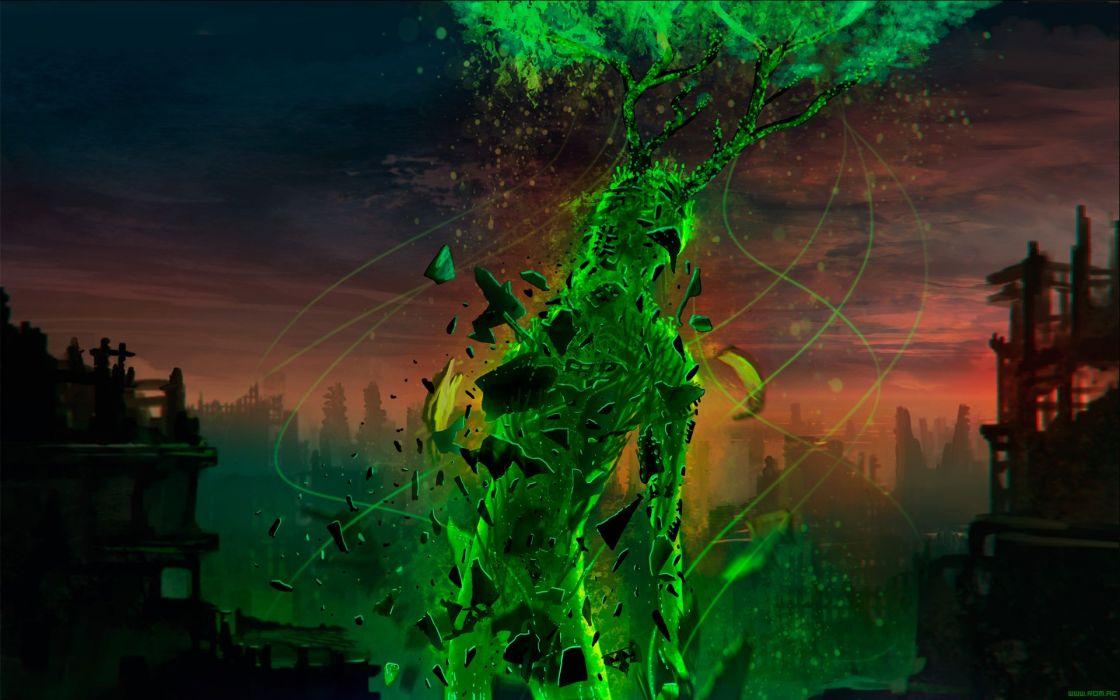 a Romantically Apocalyptic fantasy sci-fi dark psychedelic monster creature    g wallpaper