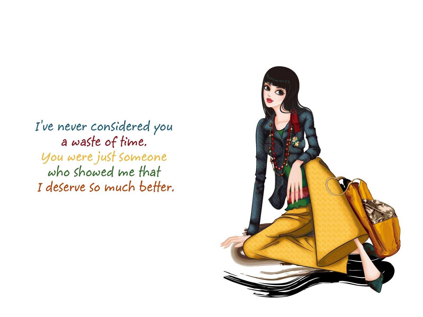 Attitude Qoute mood love sad girl cartoon bokeh wallpaper 1600x1200 324610 WallpaperUP