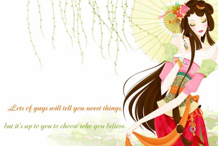 Attitude Qoute mood love sad girl cartoon bokeh wallpaper