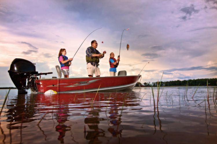 FISHING fish sport fishes lake river boat wallpaper