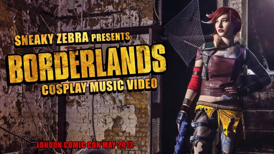 borderlands cosplay sci-fi warrior poster babe weapon wallpaper