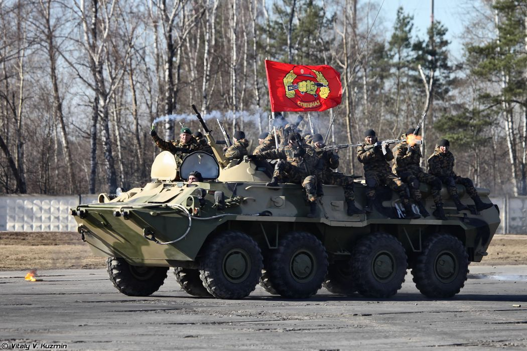 BTR-80 armored 33rd Special Purpose unit Peresvet russian police troops special wallpaper