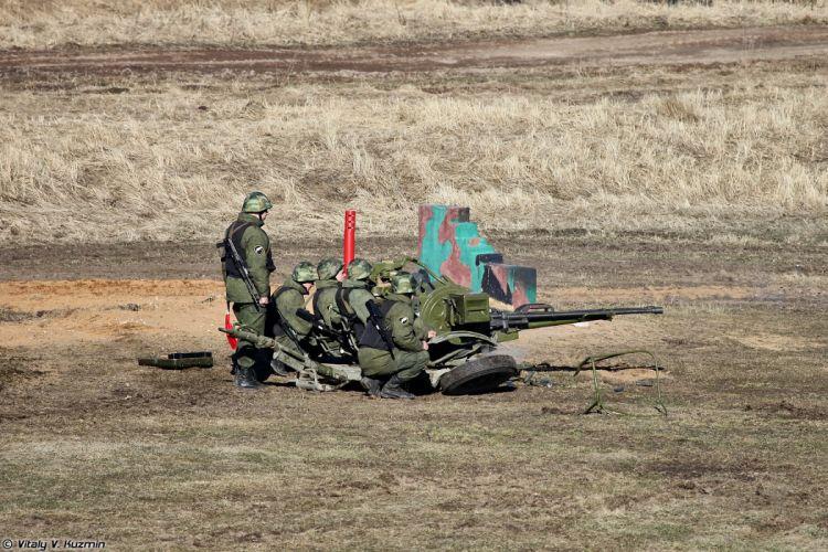 zu-23 artillery 33rd Special Purpose unit Peresvet russian police troops special wallpaper