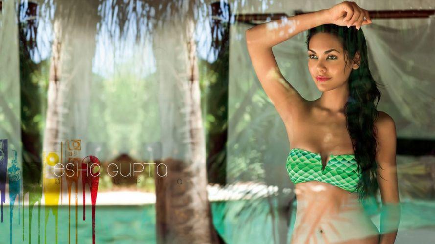 ESHA GUPTA indian actress bollywood model babe jk wallpaper