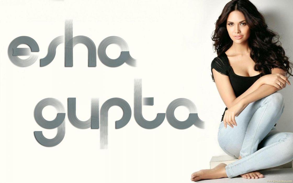 ESHA GUPTA indian actress bollywood model babe  rm wallpaper