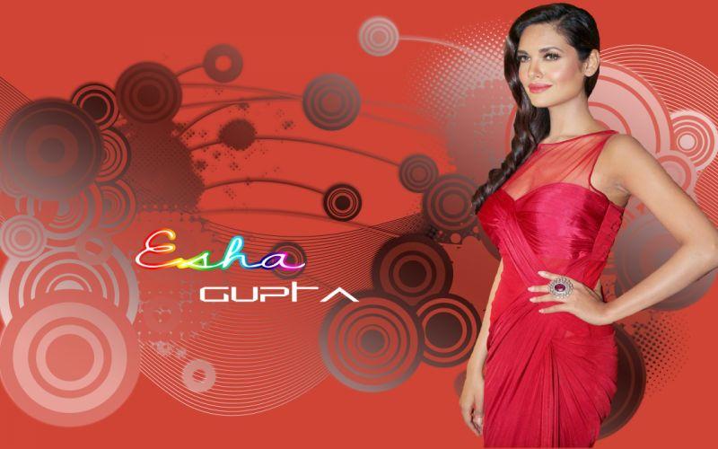 ESHA GUPTA indian actress bollywood model babe rp wallpaper