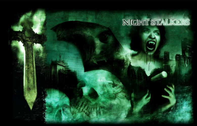 dark horror evil halloween vampire wallpaper