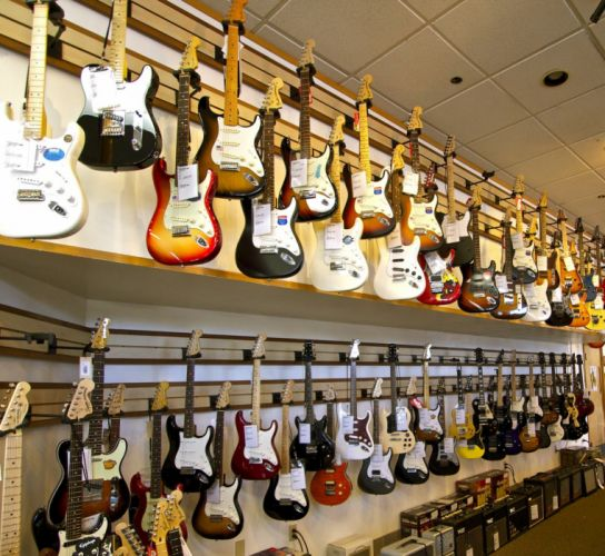 room design guitar wallpaper