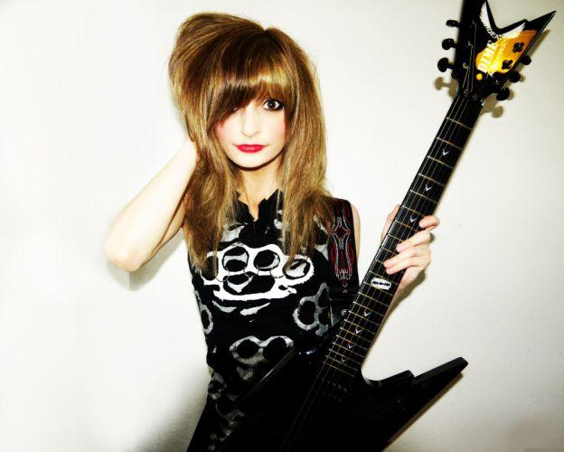 JJkitten jacqueline heavy metal babe guitar girl wallpaper
