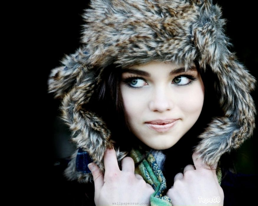 brunettes women green eyes India Eisley wallpaper