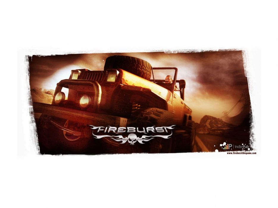 video games cars fire track Fireburst wallpaper