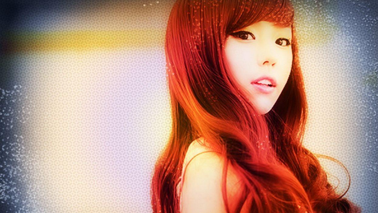 women redheads models Asians wallpaper