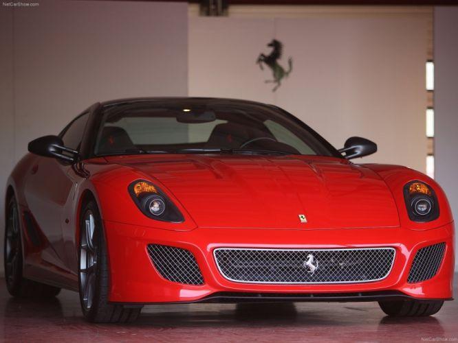 red cars Ferrari 599 Ferrari 599 GTO wallpaper