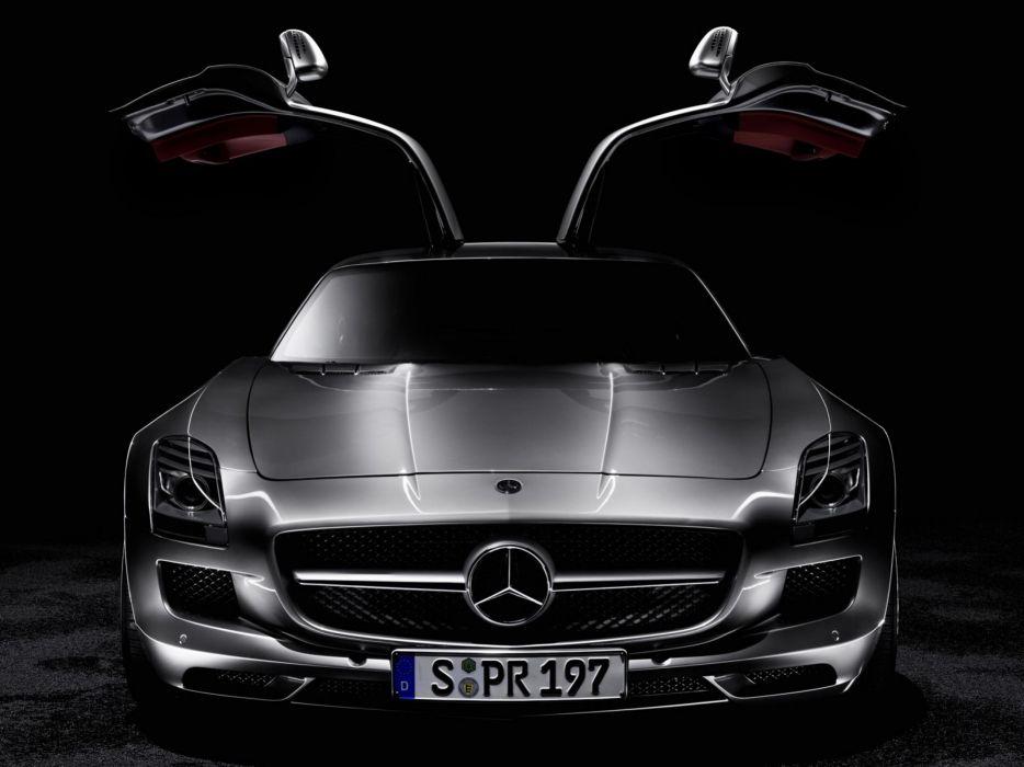 cars roadster Mercedes-Benz gullwing Mercedes-Benz SLS AMG E-Cell wallpaper