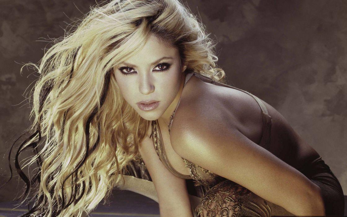 blondes women brown eyes Shakira singers wallpaper
