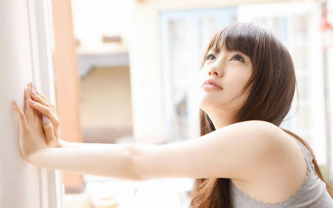 women Asians bangs wallpaper