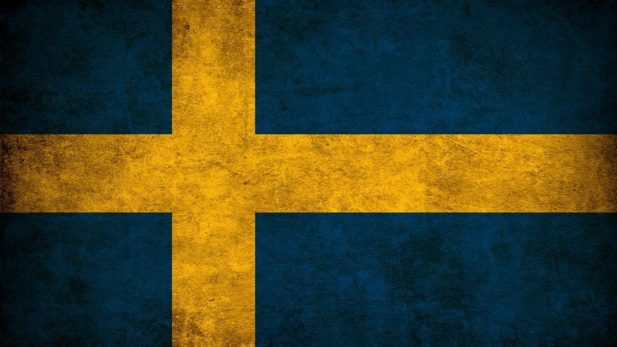Sweden flags wallpaper