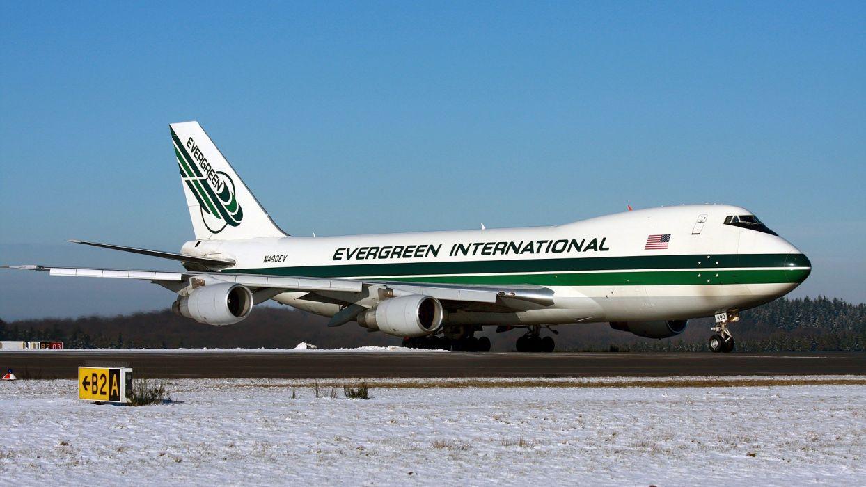 Evergreen Boeing 747 Aerial Tanker Water Bomber wallpaper