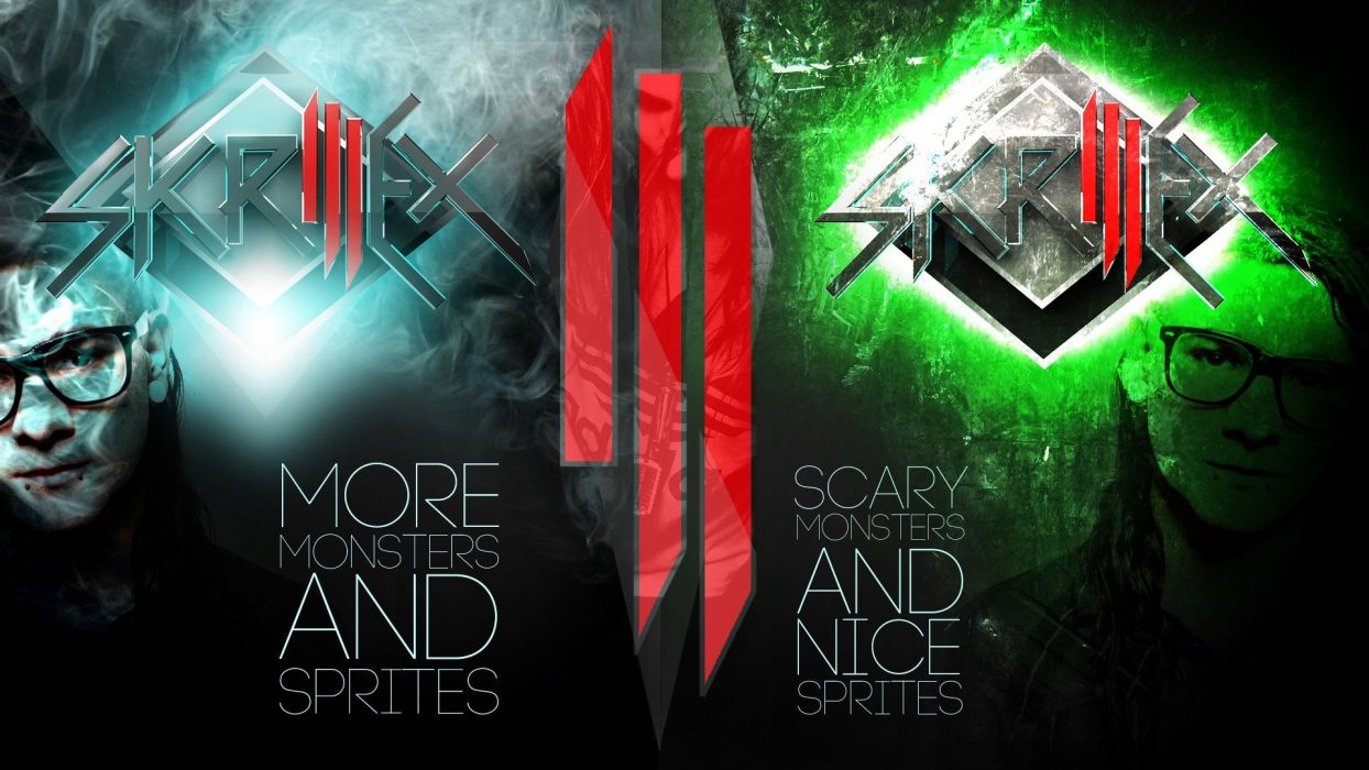 electro dubstep Skrillex drum and bass Sonny Moore scary monsters and nice sprites wallpaper