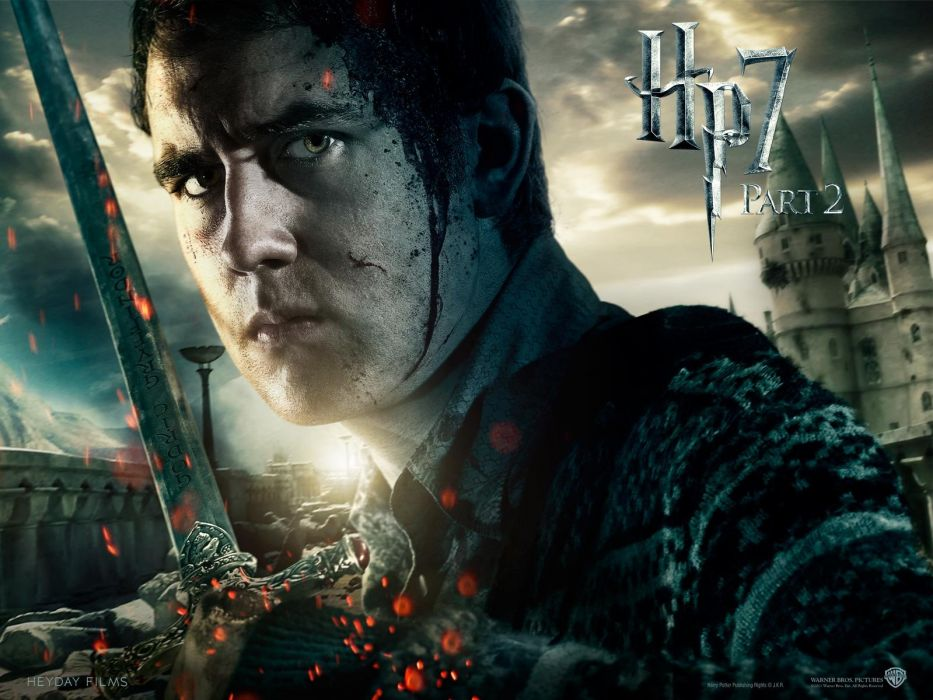Harry Potter Harry Potter and the Deathly Hallows Neville Longbottom swords Matthew David Lewis wallpaper