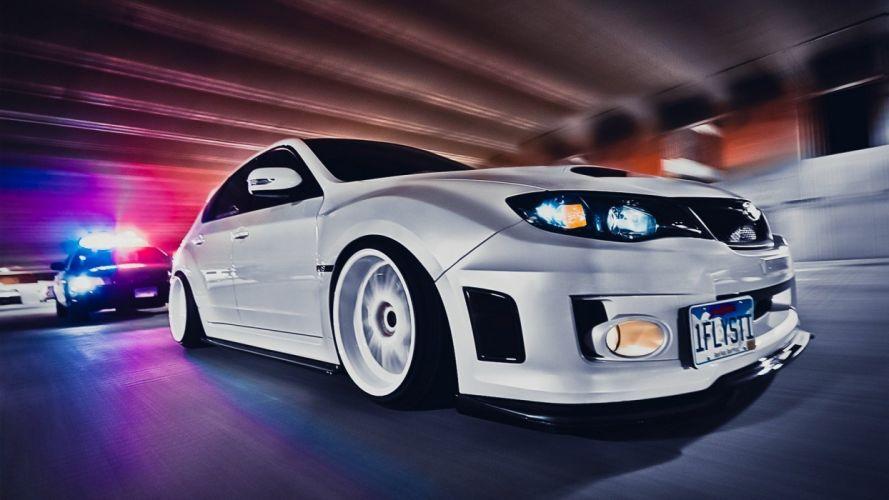 cars police Subaru vehicles Subaru Impreza Subaru Impreza WRX STI wallpaper