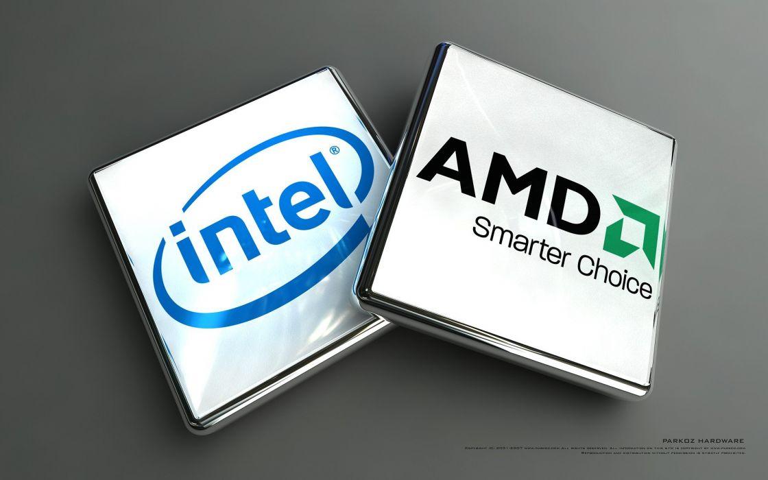 Intel brands logos AMD CPU companies wallpaper