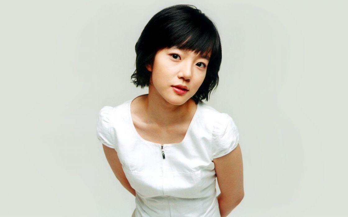 women actress celebrity short hair Asians Korean white background Lim Soojung black hair bob cut wallpaper