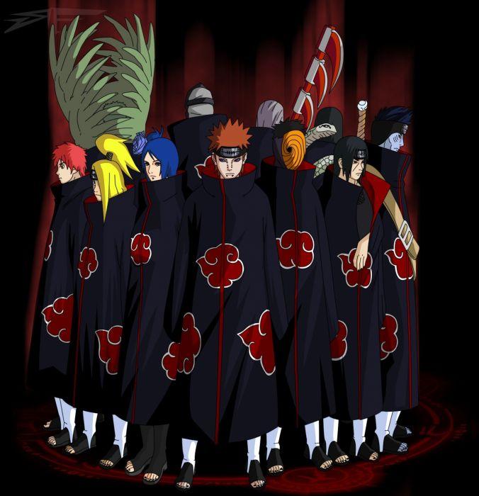 Naruto: Shippuden Akatsuki Uchiha Itachi Hoshigaki Kisame Orochimaru Konan Deidara Sasori Zetsu Hidan Kakuzu Tobi Pein Uchiha Madara wallpaper
