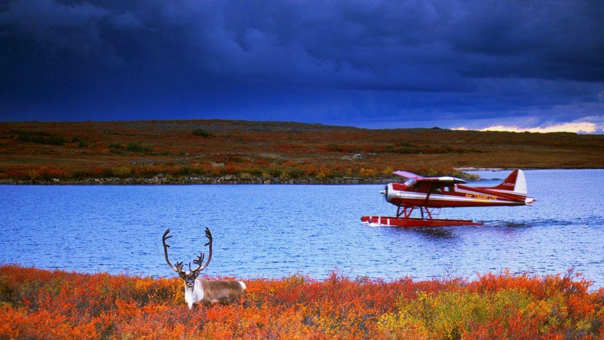 float planes caribou rivers wallpaper