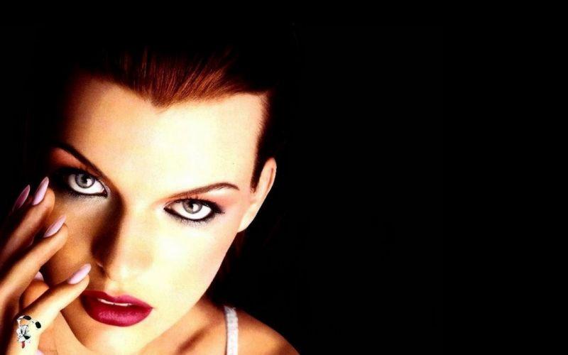 brunettes women blue eyes actress lips Milla Jovovich wallpaper