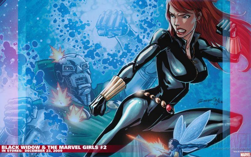 Black Widow Marvel Comics The Wasp Dr_ Doom wallpaper