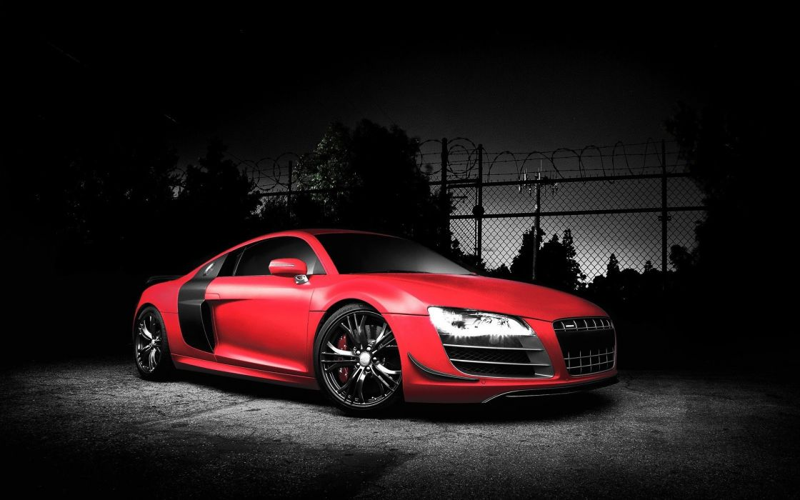 red cars Audi vehicles Audi R8 red cars dark background Audi R8 GT wallpaper