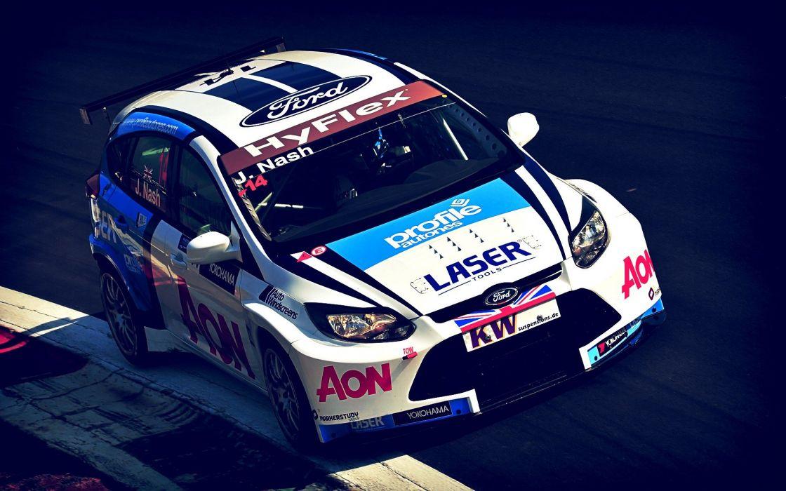Ford Focus wtcc racing cars wallpaper