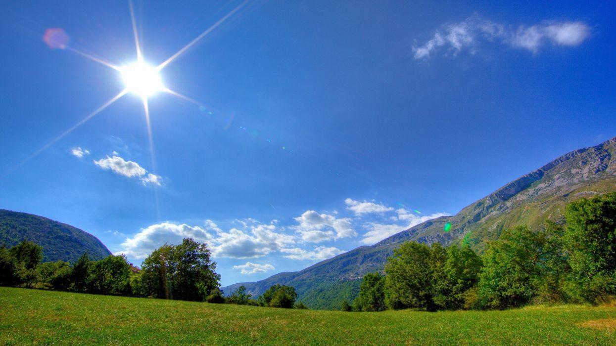 nature hills sunny wallpaper