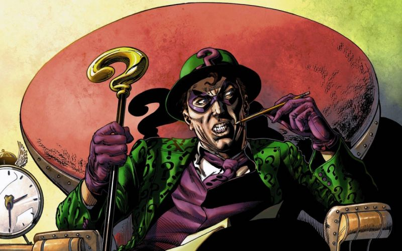 DC Comics comics The Riddler wallpaper