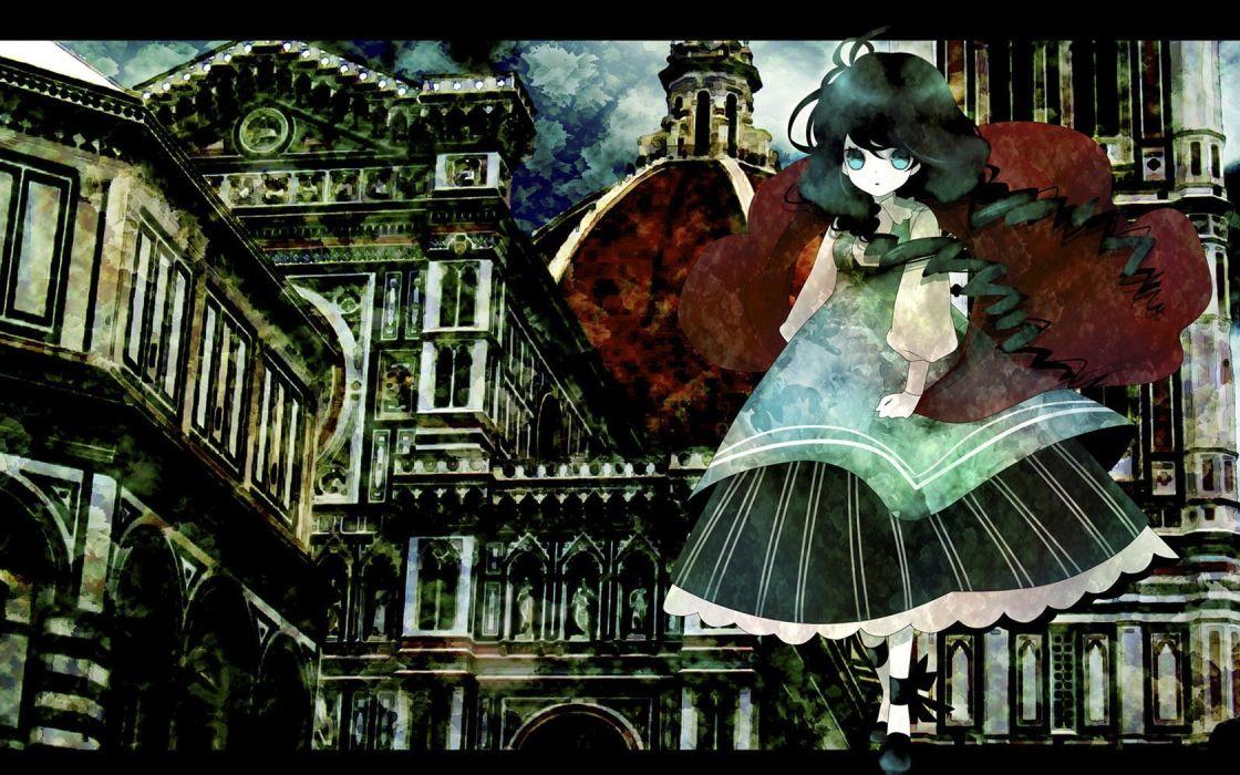 Pixiv Gothic sideways anime girls wallpaper
