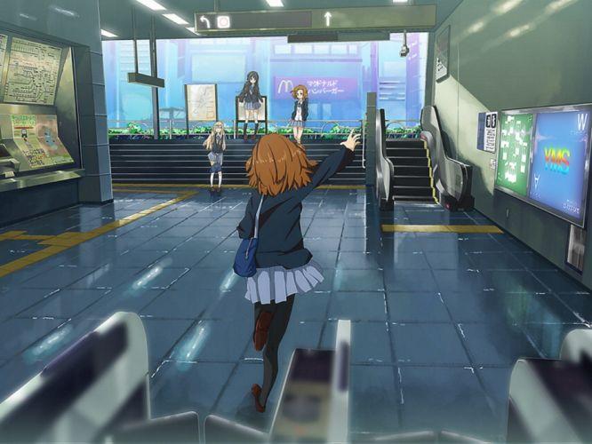 K-ON! school uniforms Hirasawa Yui Akiyama Mio Tainaka Ritsu Kotobuki Tsumugi anime wallpaper