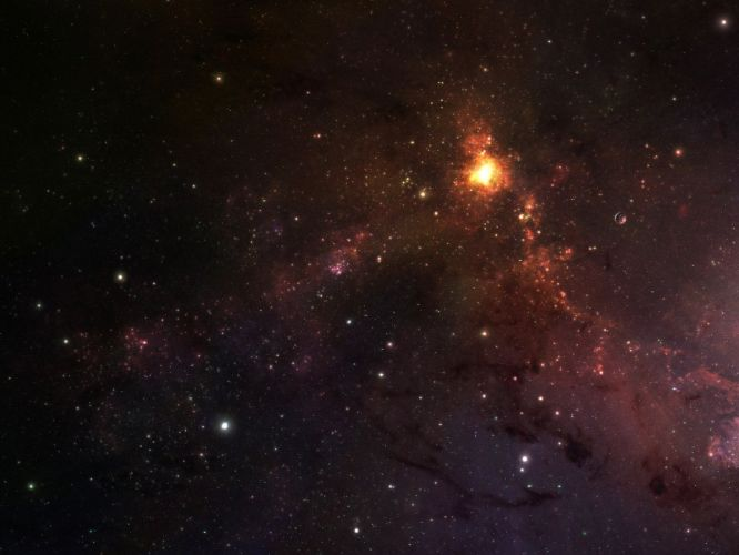 outer space lights stars galaxies wallpaper
