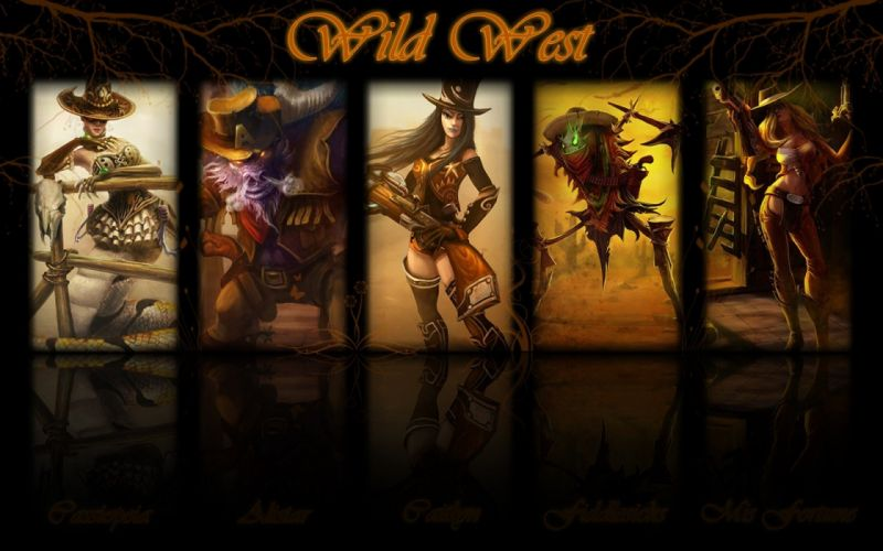 paintings video games League of Legends wild west Riot Games wallpaper