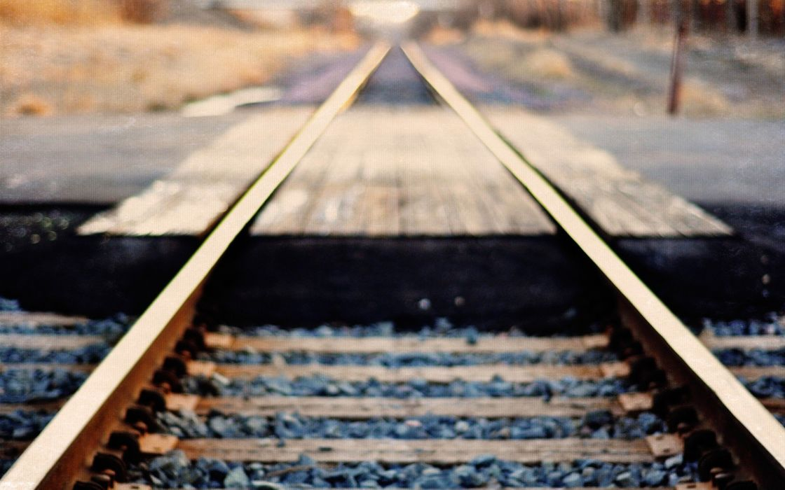 stones bokeh railroad tracks blurred tracks wallpaper