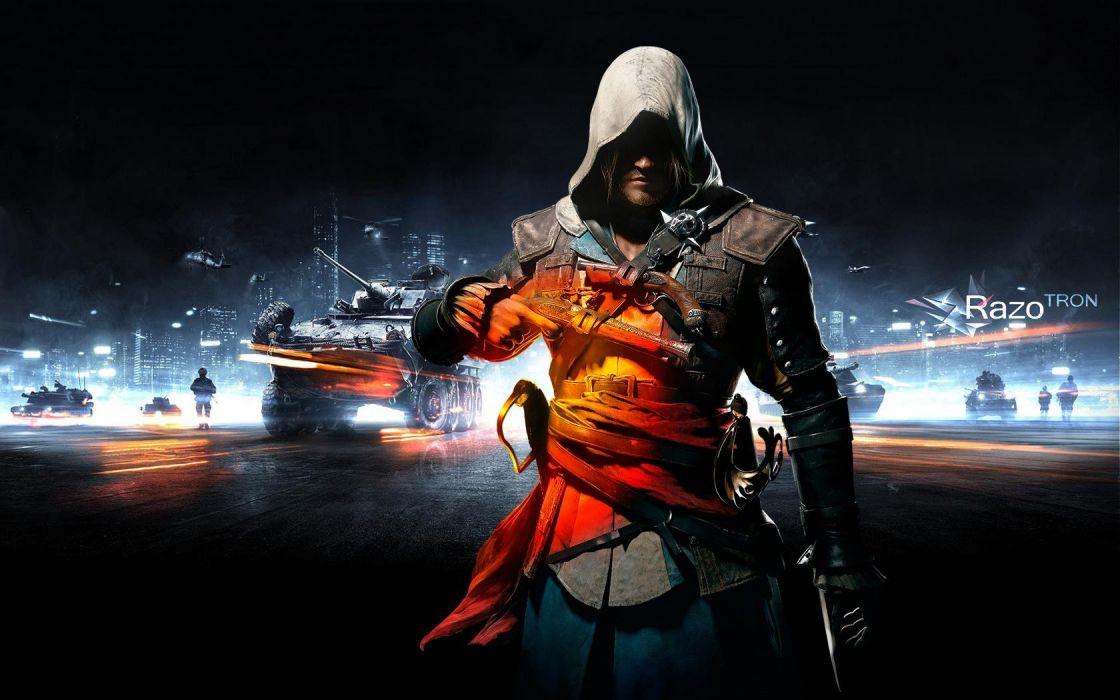 assassin Battlefield Black Flag Style creed Assassins Creed 4: Black Flag Edward Kenway wallpaper