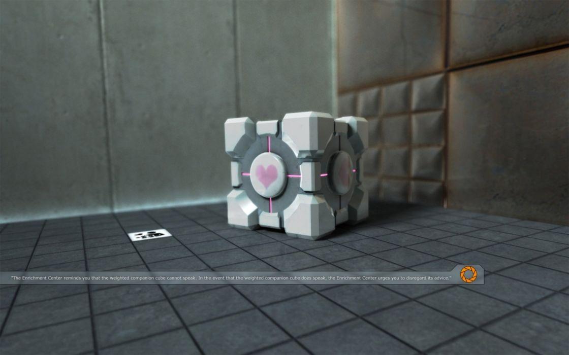 Portal Companion Cube wallpaper