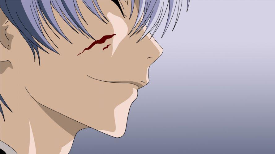 blood Bleach vectors young Ichimaru Gin anime silver hair wallpaper