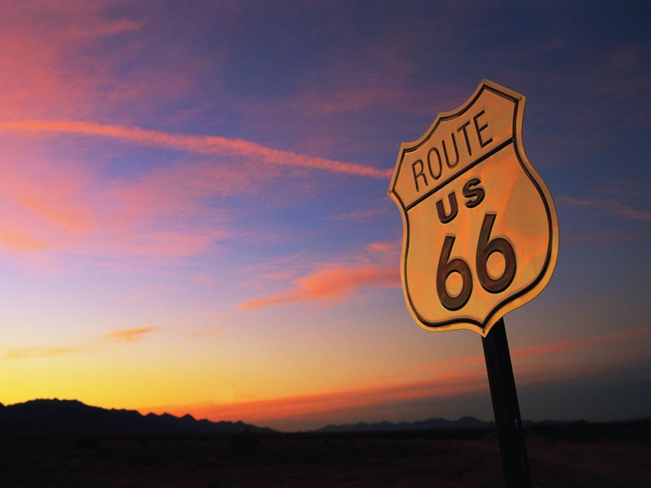 sunset route 66 wallpaper