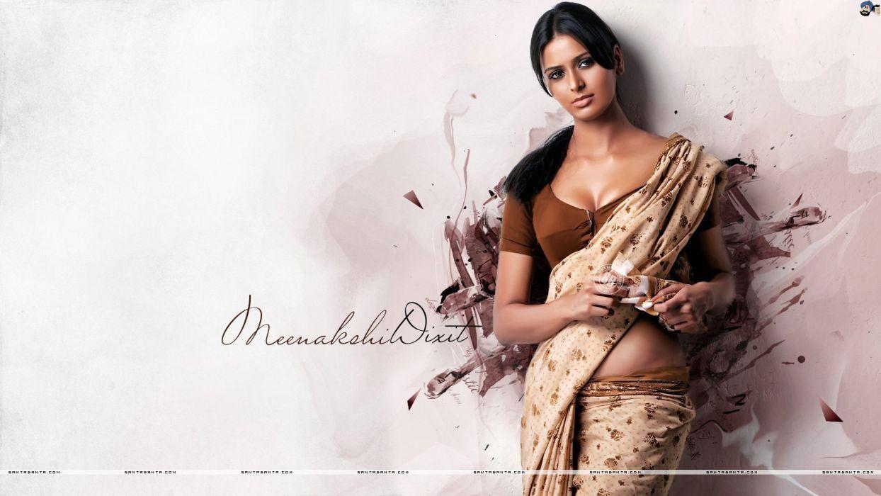 MEENAKSHI DIXIT indian actress babe model (12) wallpaper