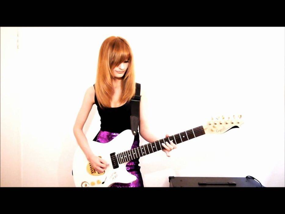 JJKITTEN jacqueline heavy metal girl guitar wallpaper
