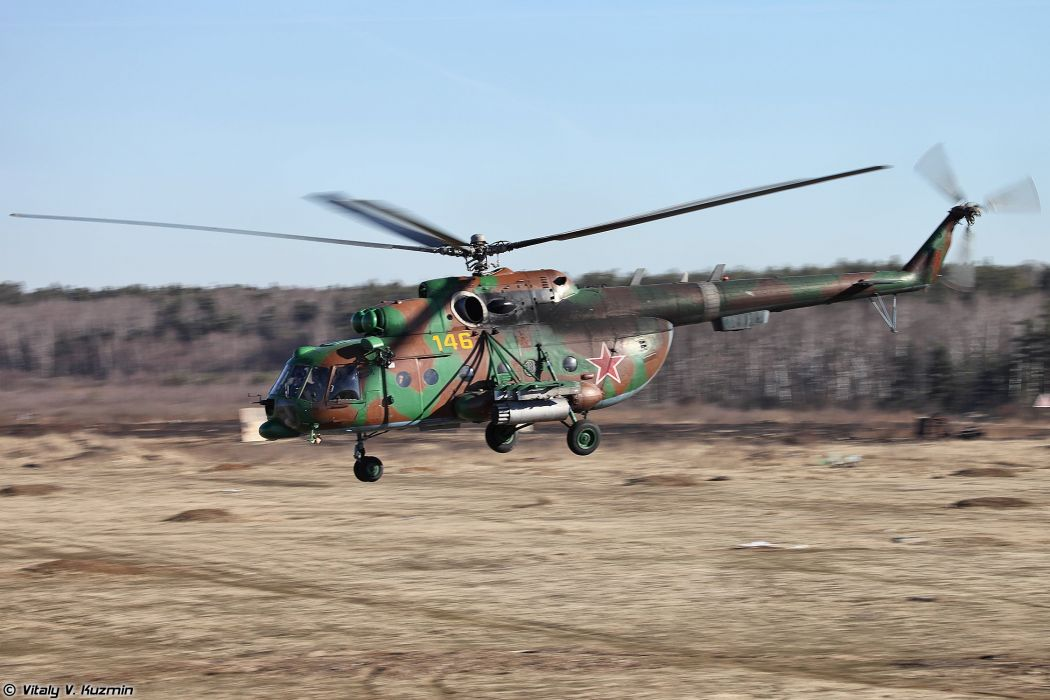 33rd OSN Peresvet police troops special forces russian helicopter Mi-8AMTSh wallpaper